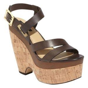 NEW Rachel Zoe Wedge Platform Leather Sandals